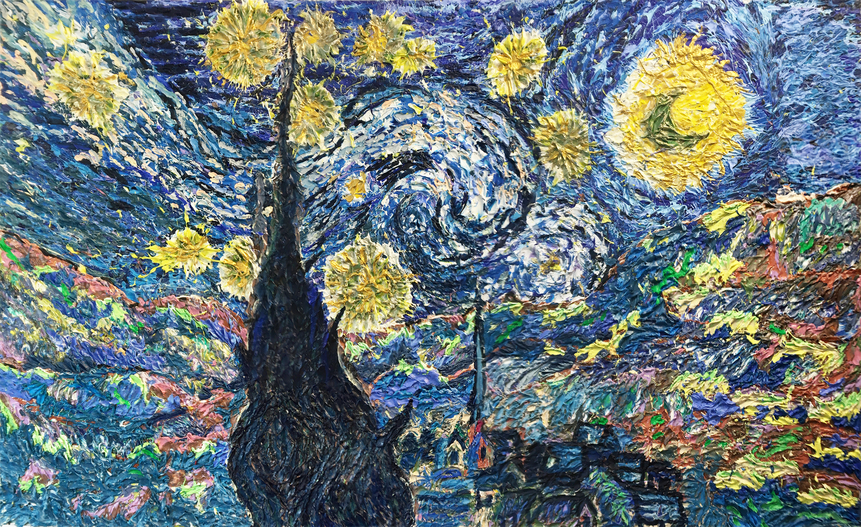 Stary night of van gogh 2020